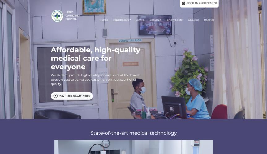 Lapaz Community Hospital Website